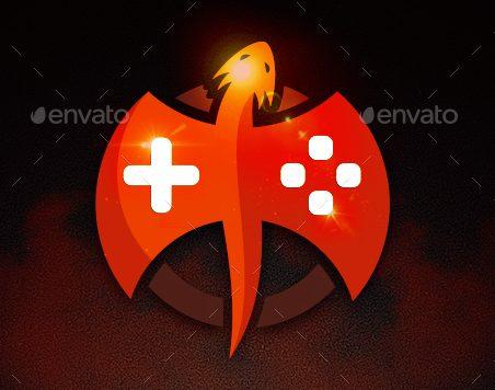 Logotipo Con Dragon Para Actividades Relacionadas Con Los Videojuegos