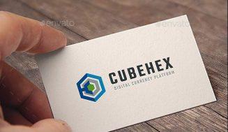 Logotipo Hexagonal. Plantilla de Logotipo Abstracto.